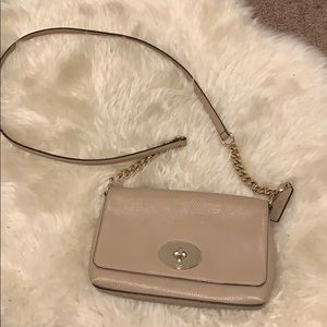 Nude Coach Crosstown leather crossbody